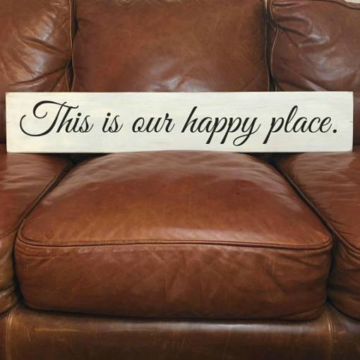 This Is Our Happy Place | Reclaimed Wood Sign