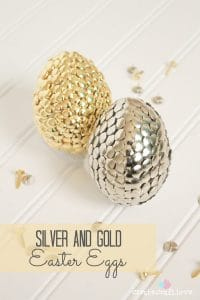 Silver And Gold Easter Eggs From Thumbtacks And Fasteners