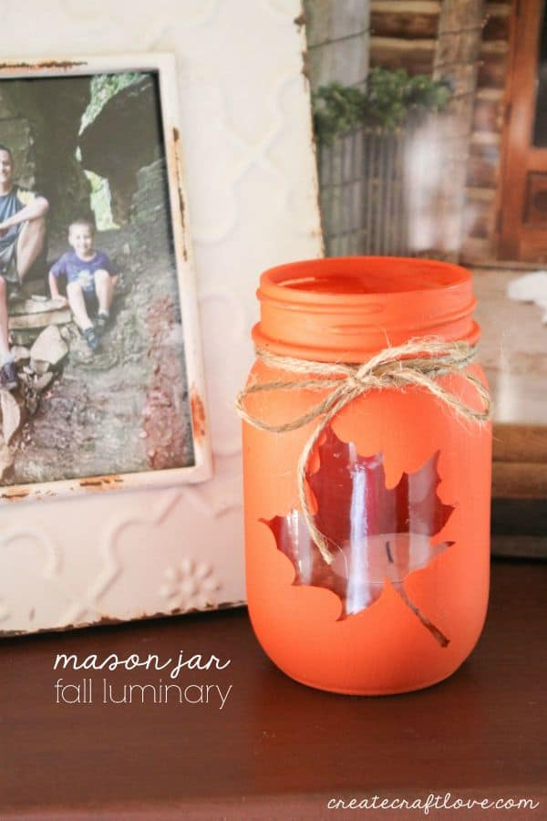 Mason Jar Fall Luminary by Create Craft Love