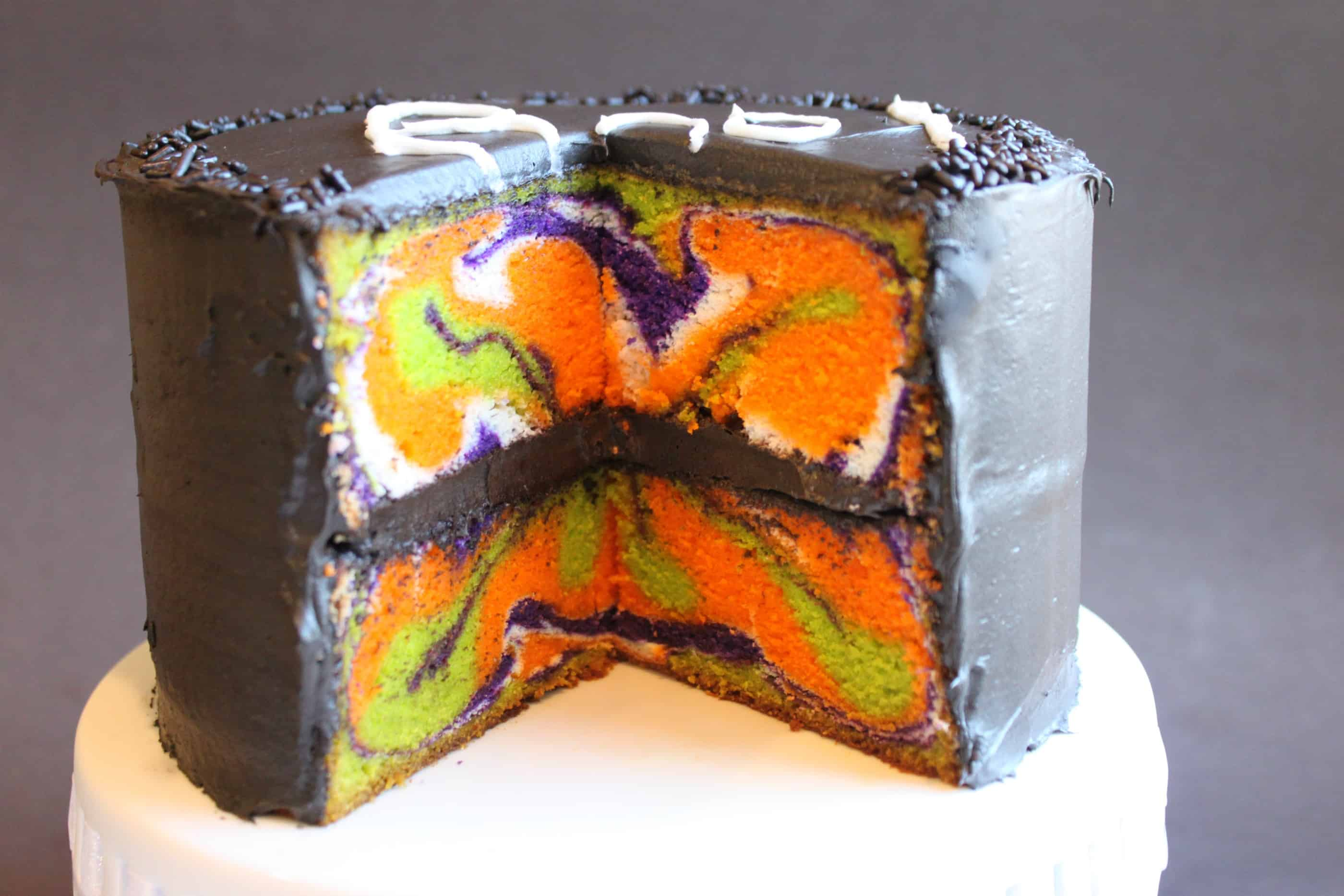 Halloween Cake With Multi Color Inside
