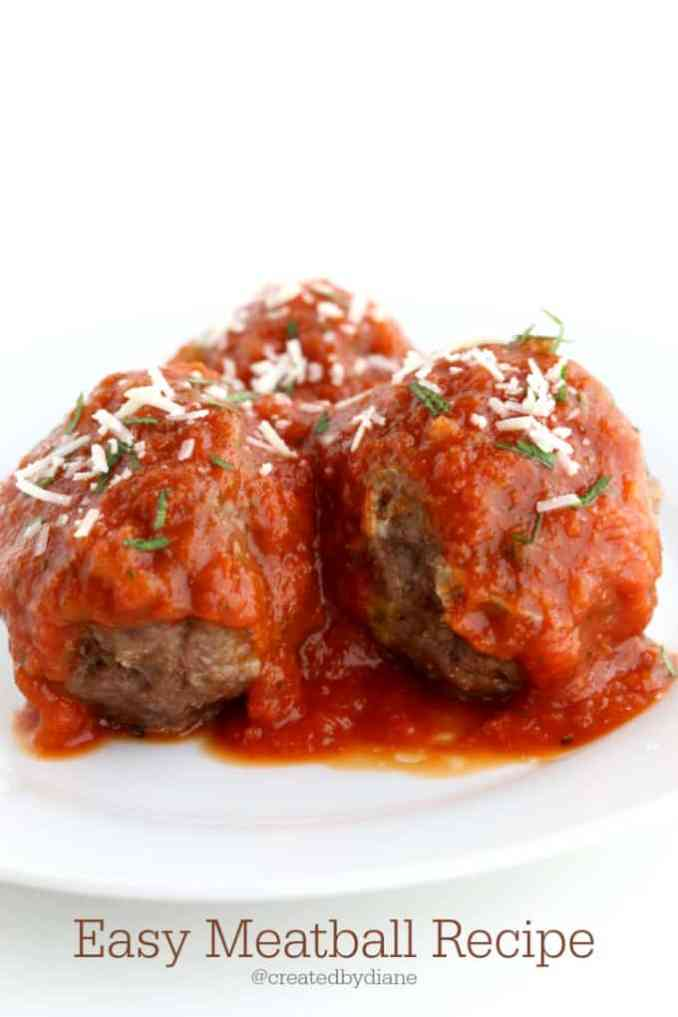 Italian Meatball Recipe | Created by Diane
