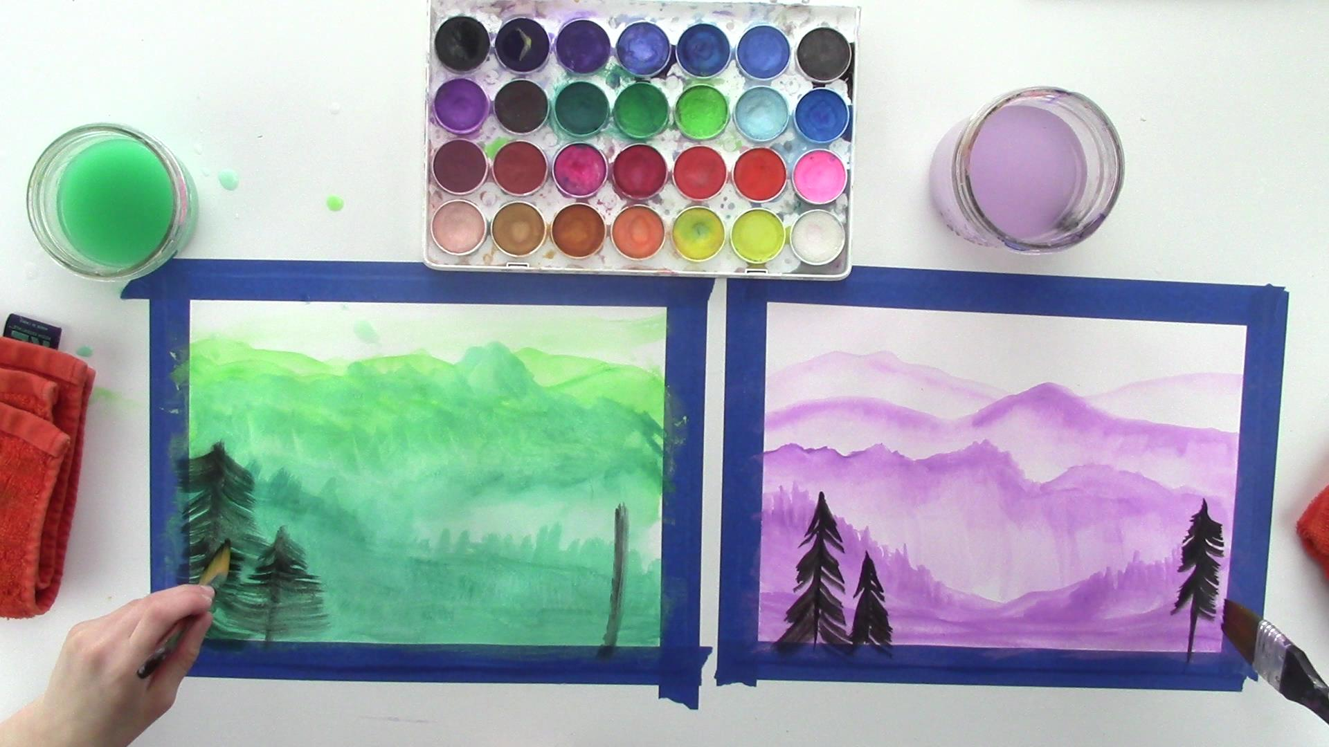 Art Lessons For Kids The Elements Of Art Value Contrast And Space