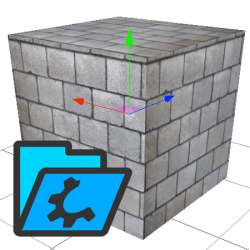 holobuilder supports custom textures on 3D shapes.