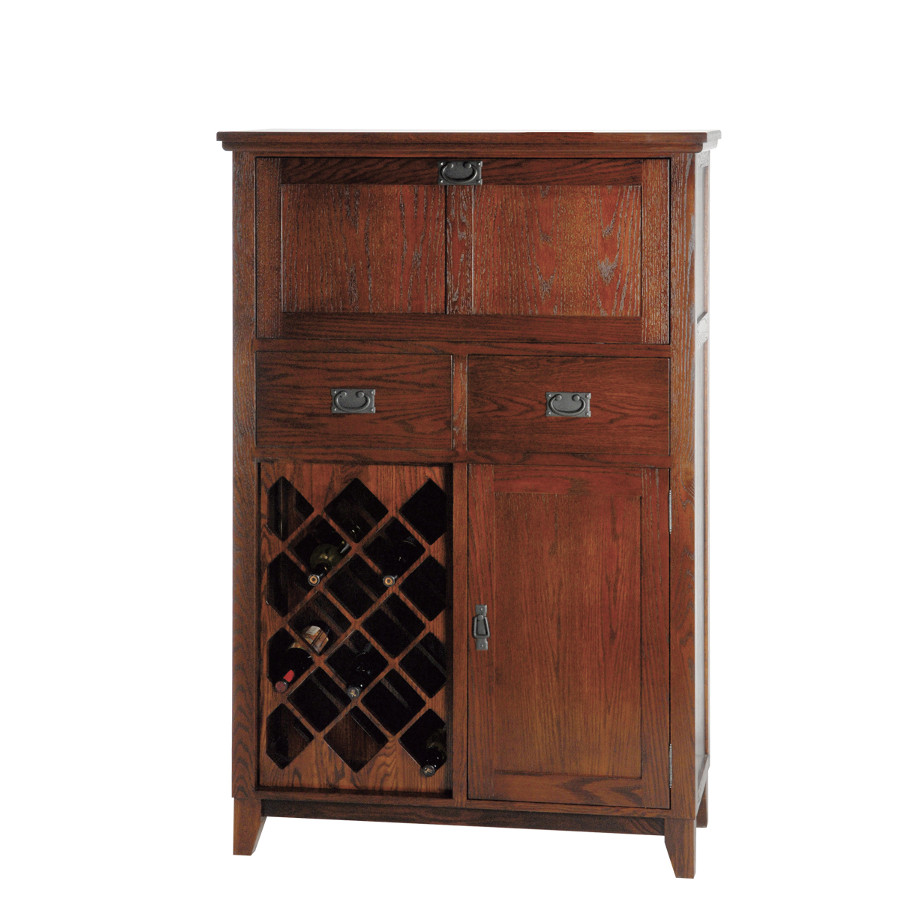 Mission Small Bar Cabinet Home Envy Furnishings Solid