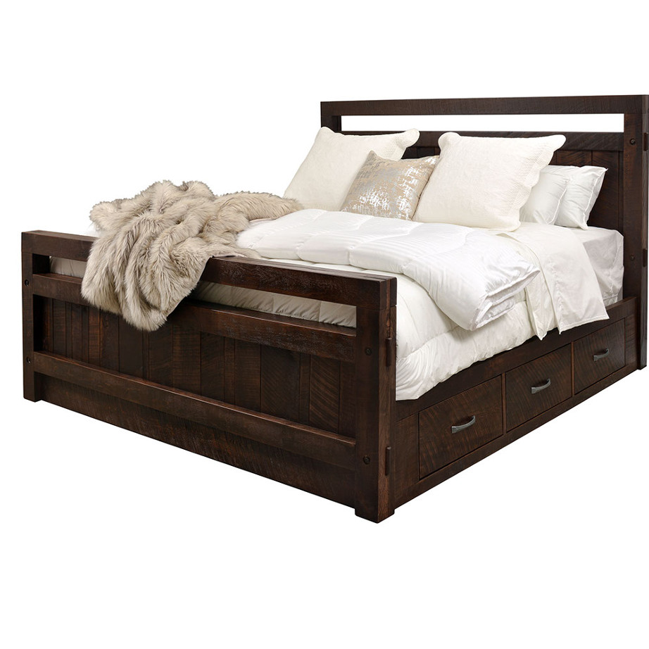 Timber Bed With Drawers Home Envy Furnishings Solid