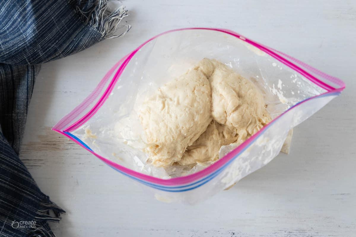 bread dough in a bag