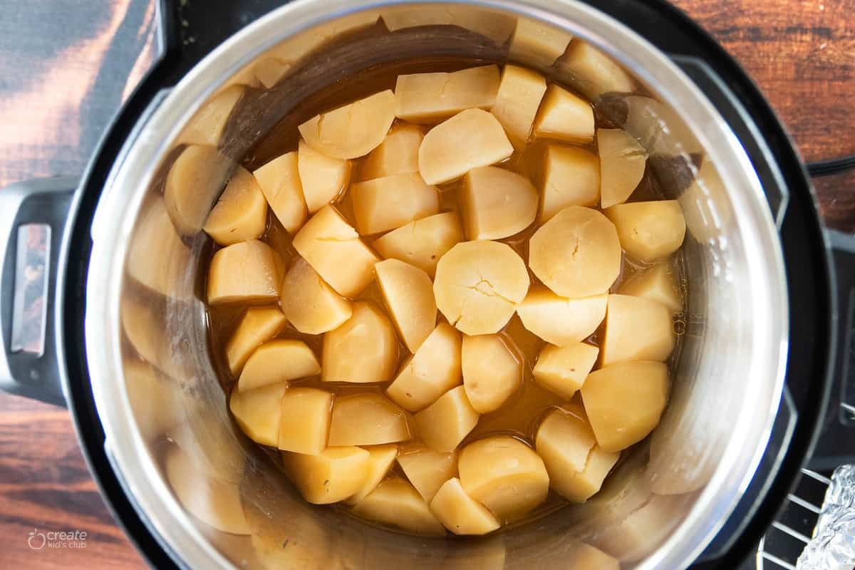 cooked potatoes in instant pot
