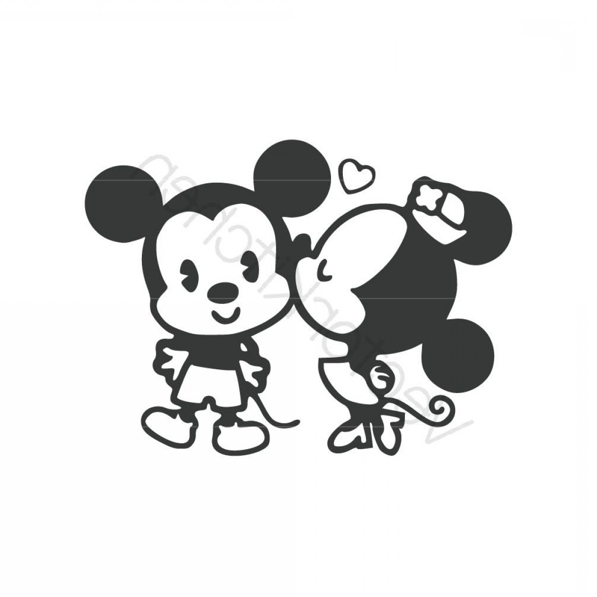 Minnie Vector Black And White