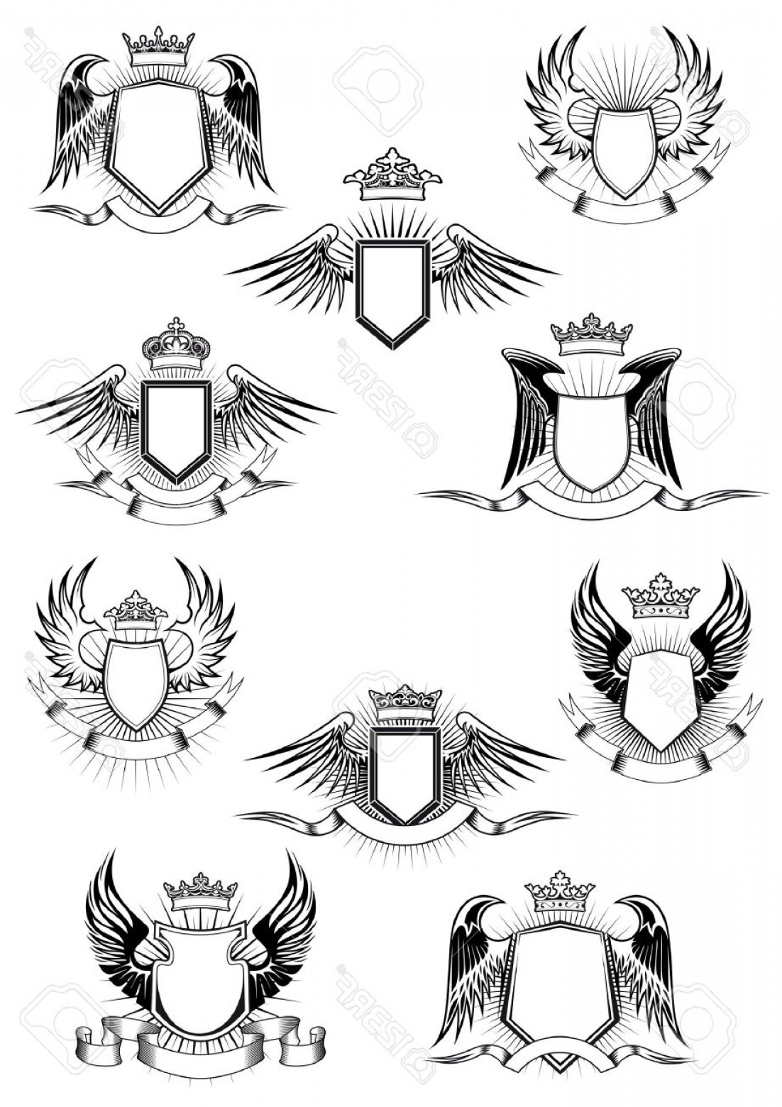 Photostock Vector Heraldic Coat Of Arms Templates With