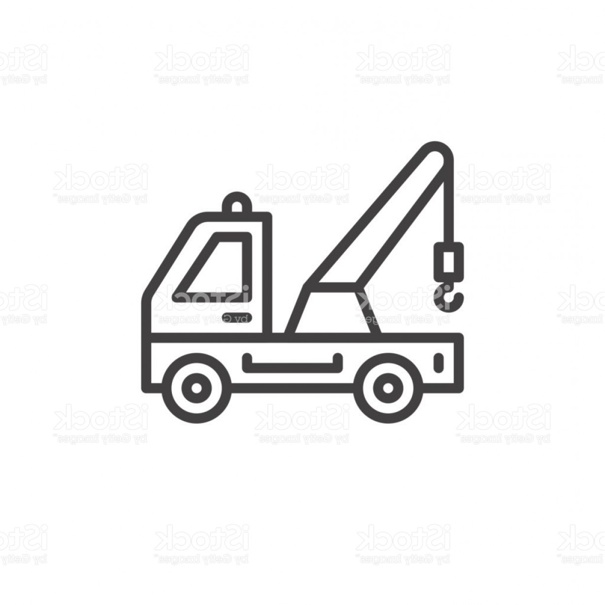 Towing Vector Clip Art