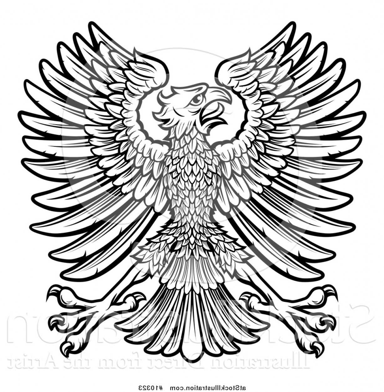 Vector Hi Res Black And White Wing