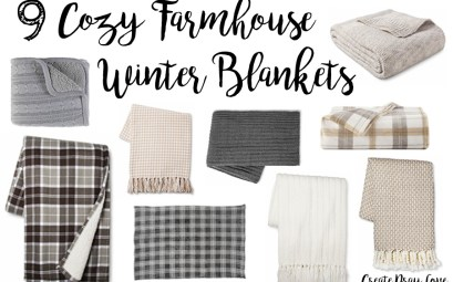 9 Cozy Farmhouse Style Winter Blankets
