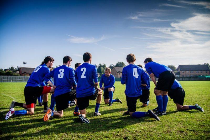 sports team talking