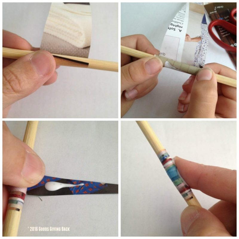 Steps to rolling a paper bead