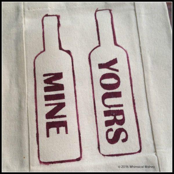 Finished sassy wine gift