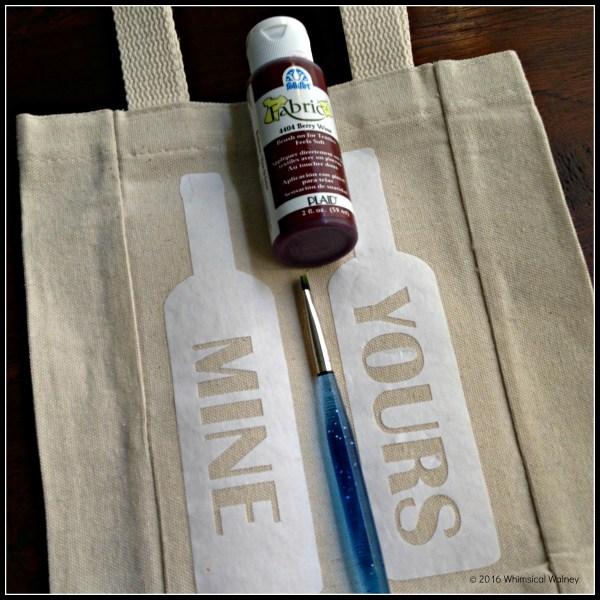 DIY sassy wine gift materials