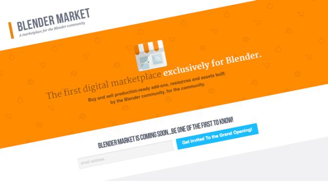 Bientôt, un Marketplace pour Blender via Cg cookie