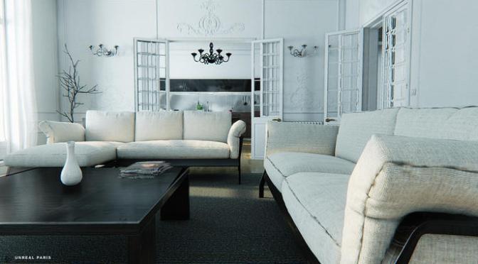 Unreal Engine 4: Visite virtuelle d'un appartement parisien