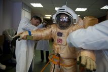 Training with the space suit for Mars EVA.
