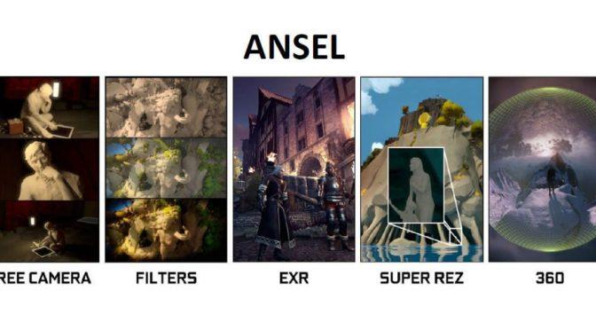 Nvidia Ansel: Capture de scènes en Super Résolution, 360° et outils de post-traitement