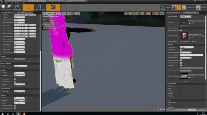 Outil Cloth pour Unreal Engine 4