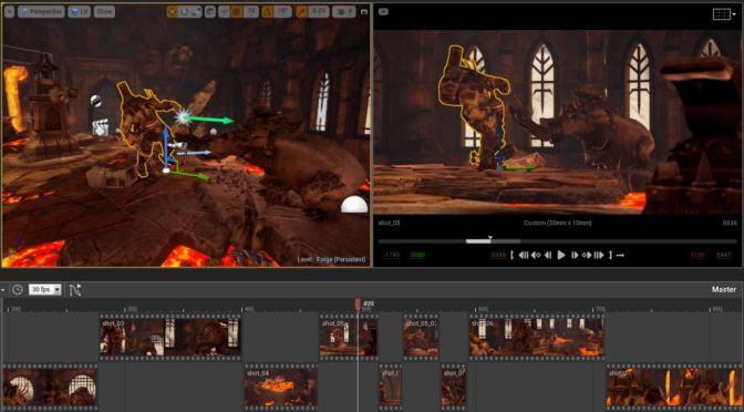 Unreal Engine 4.20: Nombreuses améliorations du Sequencer