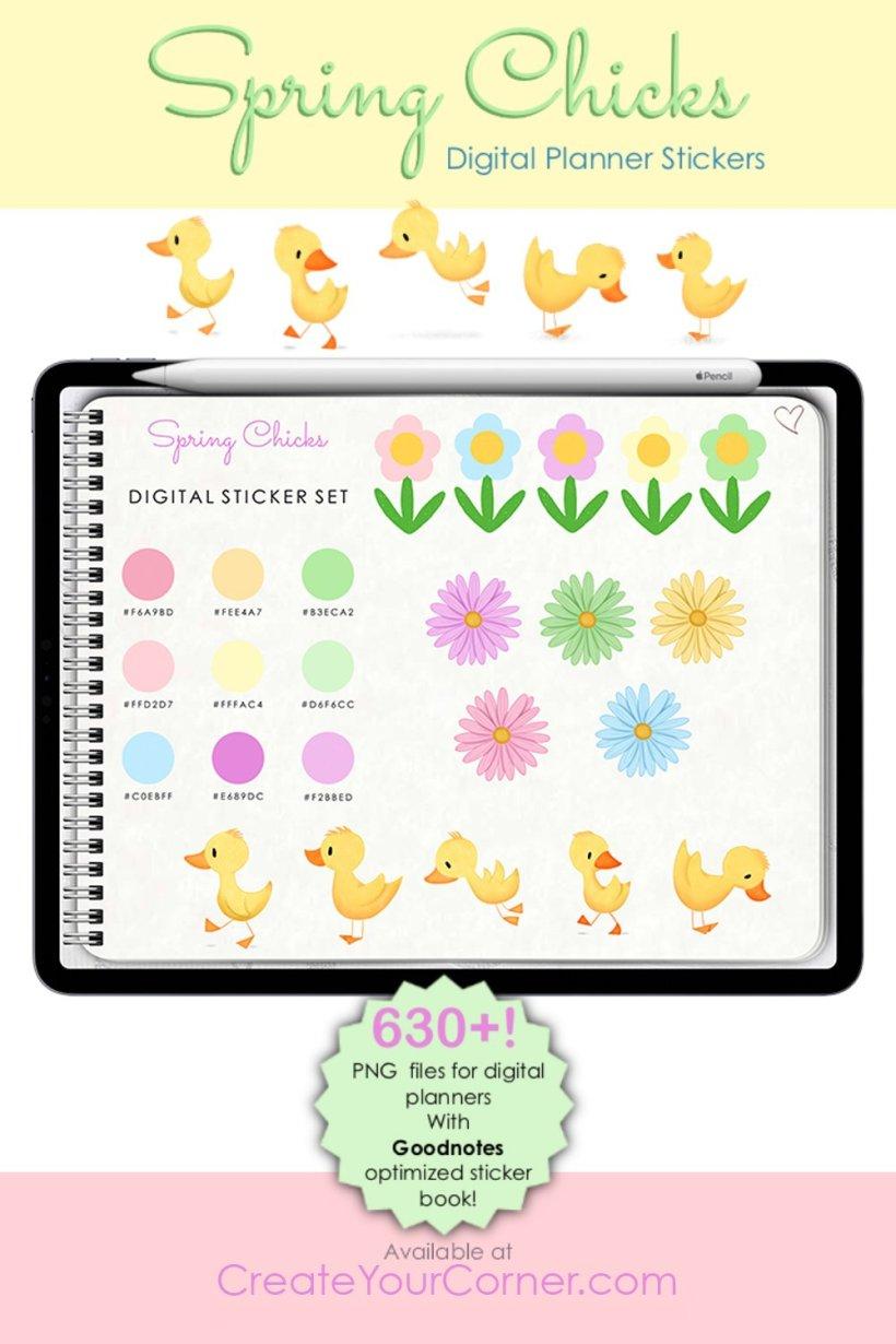 Spring Chicks | Digital Planner Stickers