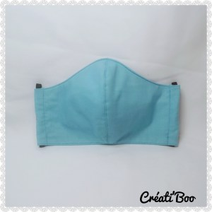 Masque barrière turquoise