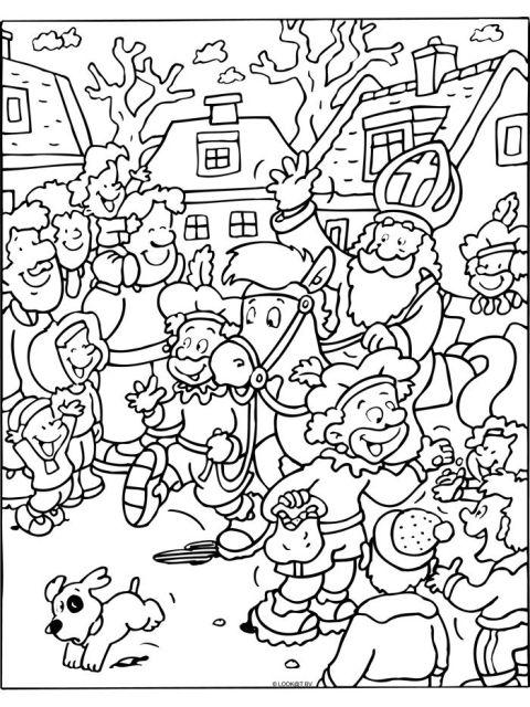 Kleurplaten Sinterklaas - Download gratis op onze site