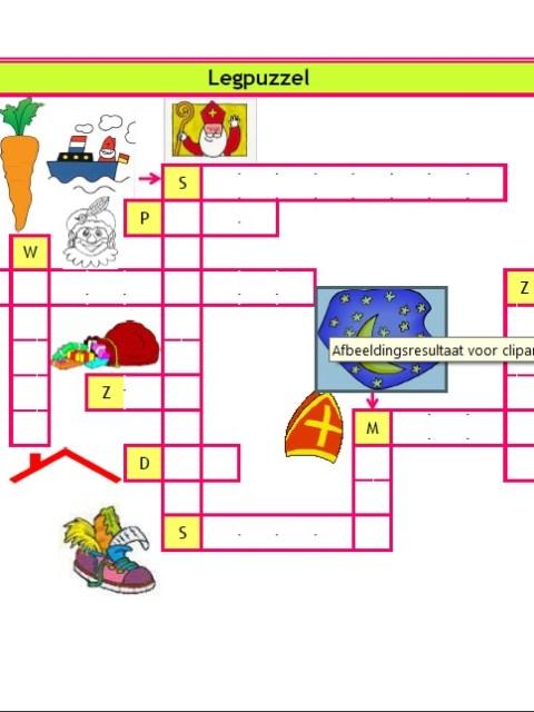 Legpuzzel Sinterklaas - Download gratis op onze site