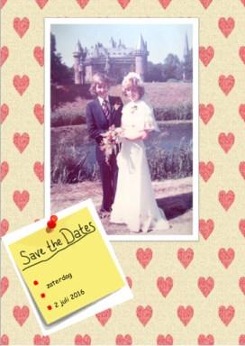Uitnodiging 40-jarige bruiloft met een foto van ons trouwen- Creatief en Simpel - Ga naar onze site voor de uitleg en nog meer leuke ideeen.