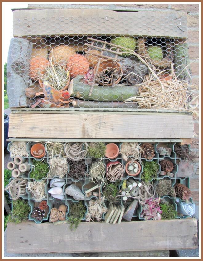 Zelfgemaakt insectenhotel - Creatief en Simpel - Ga naar onze site voor de werkbeschrijving en nog meer leuke ideeen voor in de tuin of in huis.