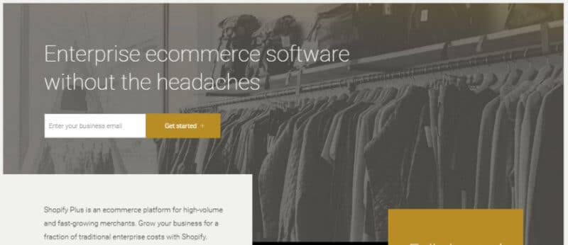 Shopify Plus Review eCommerce Homepage