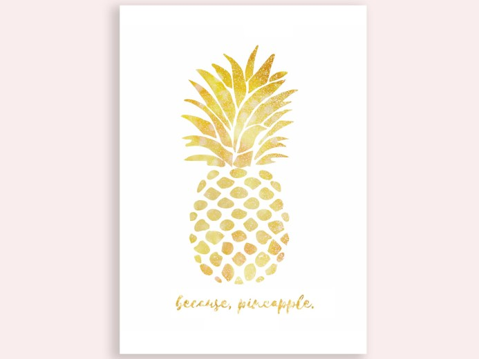 Because Pineapple Gold Mockup