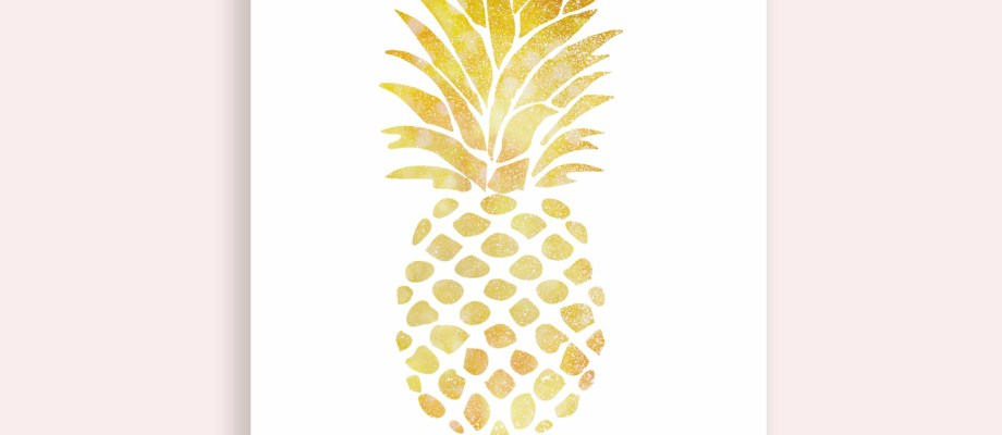 Gold Pineapple Art | FREE Printables!