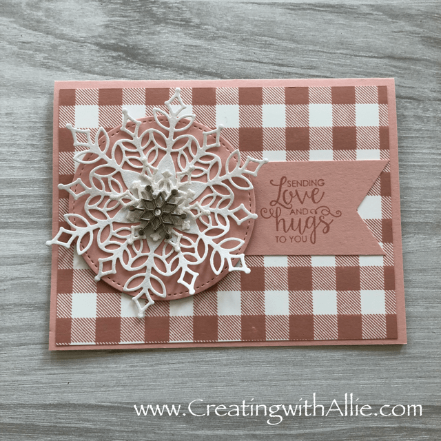 Check out this post to get some tips on how to make a  beautiful card using the products from the Snowflake showcase promotion!!!  www.creatingwithallie.com #stampinup #alejandragomez #creatingwithallie #cardclassestogowithallie #videotutorial #cardmaking #papercrafts #handmadegreetingcards #fun #creativity #makeacard #sendacard #stampingisfun #sharewhatyoulove #handmadecards #friendshipcards #snoflakeshowcase