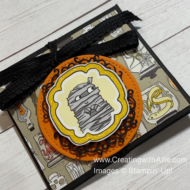 Learn how to make a cute Halloween Treat Holder that will get you ready for Halloween!