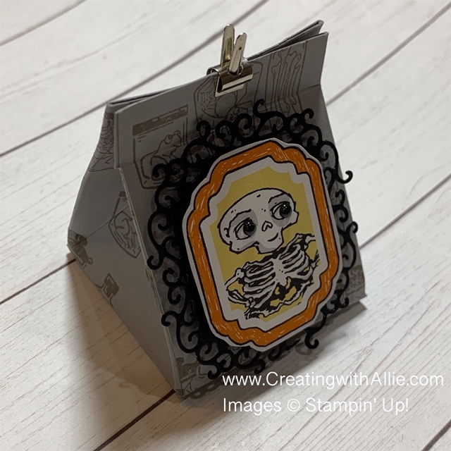 Learn how to make this cute Halloween treat holder!