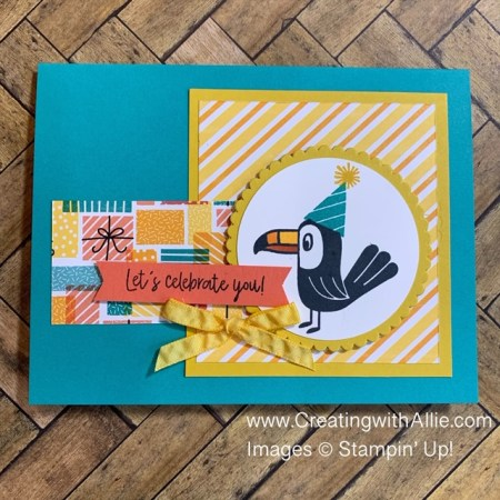 learn how to make Birthday Handmade card using the Birthday Bonanza suite from Stampin' Up!