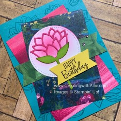 Three easy birthday cards with the Lovely Lily Pad stamp set from Stampin' Up!