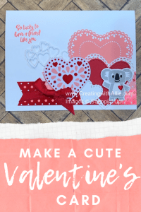 learn how to make a quick and easy Valentine's card