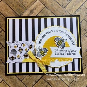 how to make thinking of you handmade cards using the honey bee bundle from stampin up