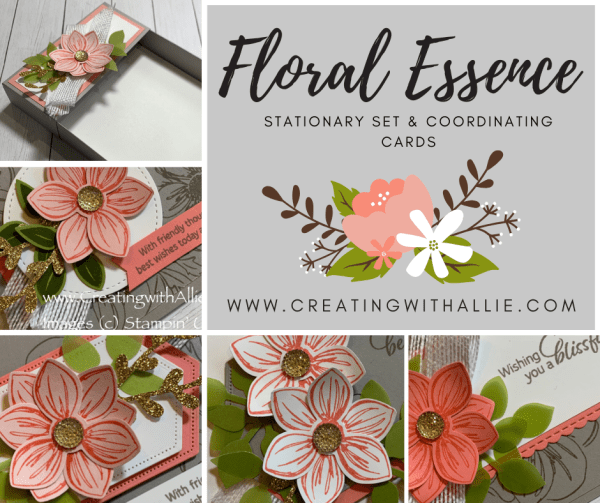 Floral Essence Card class to-go (tutorial) - makes a beautiful Stationary set perfect for any occasion!