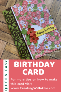 how to make an easy Birthday handmade card for a friend
