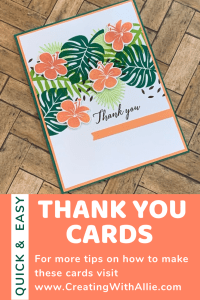 three easy-to-make Thank you cards