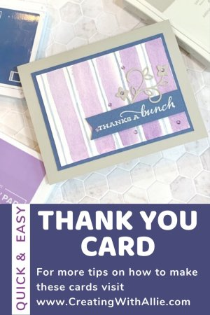 how to make an easy thank you card following a color combination