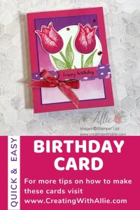 how to make easy birthday cards with the same supplies