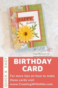 Easy Birthday Card idea to make