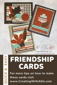 Learn how to make friendship cards following sketches