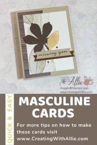 How to make three easy Masculine cards using stamps and dies